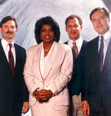 Me far right in 1991 with Oprah