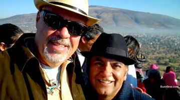 Me and Don Miguel Ruiz atop the Pyramid of the Sun