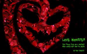Love Monster Poster heart