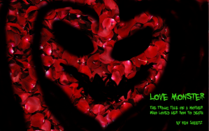 Love Monster Poster heart