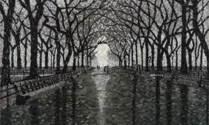 Mosaic, Rainy Day in Central Park by artist Kate Kerringer www.katkerringer.net
