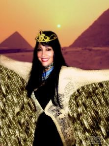 Mica Monet as isis in Egypt