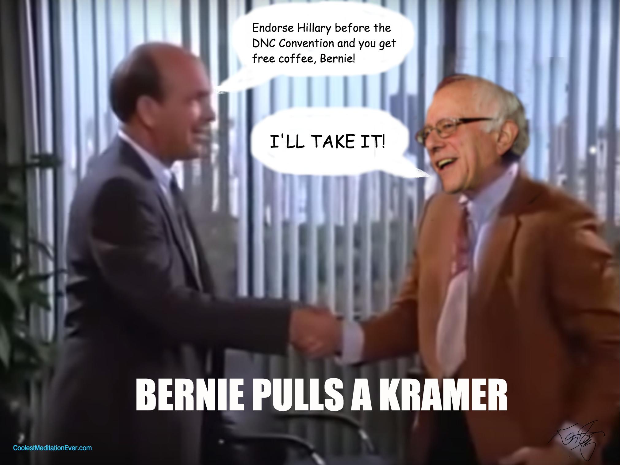 Bernie Pulls a Kramer by Ken Sheetz