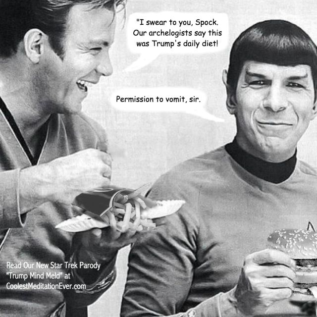 Kirk and Spock laugh about Trumps diet